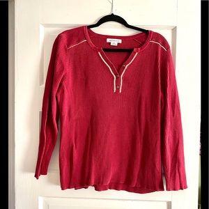 Liz Claiborne red shirt size XL